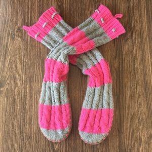 Pink Victoria's Secret Slipper Knit Boots